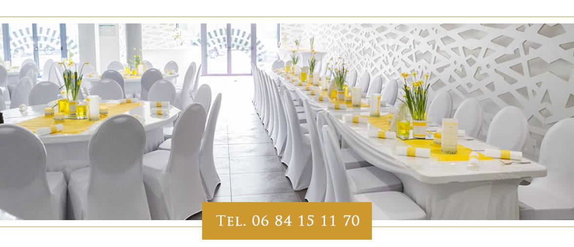 cérémonie blanc - location salle de mariage