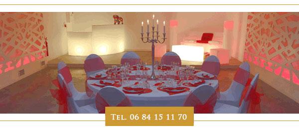 fête décoration rouge salle - salle des fêtes isère