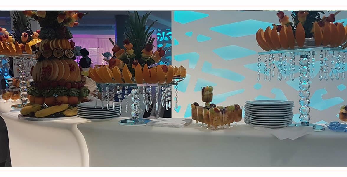 buffet nourriture fête - salle de réception isère